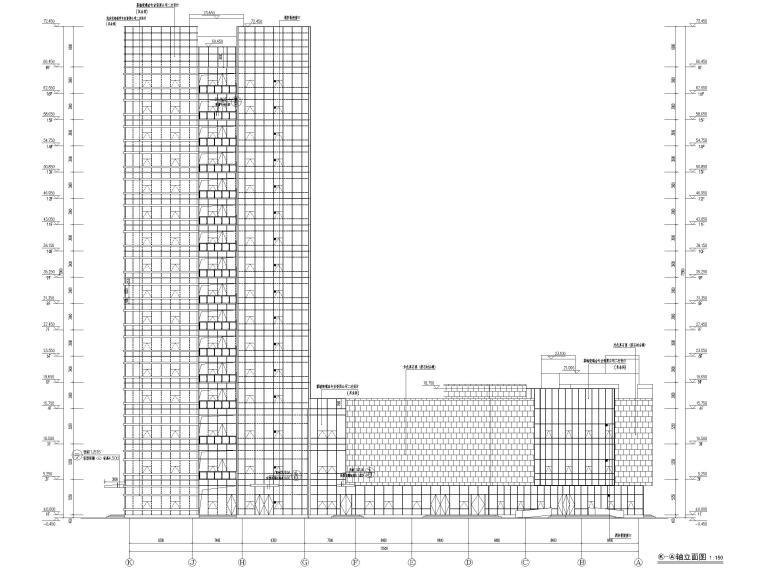 脱贫攻坚产业孵化园配套商业建筑施工图2019-立面图3
