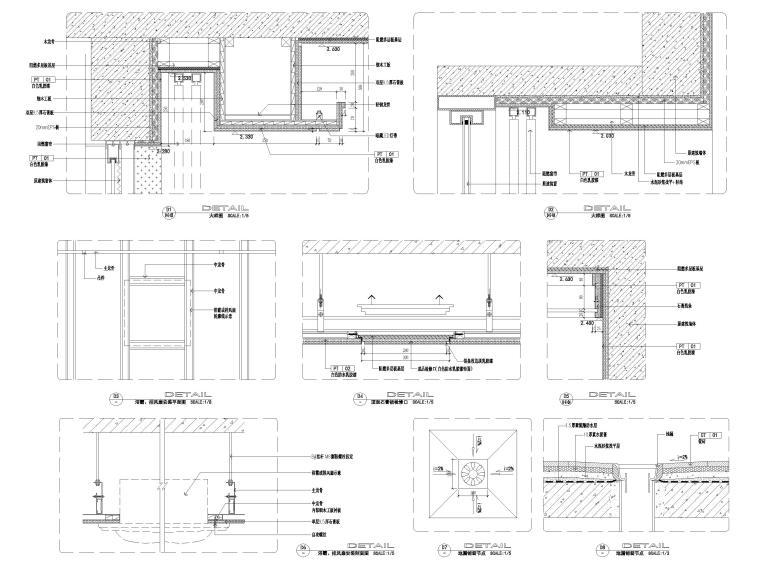 [宁波]中河大都会77㎡现代两居室家装施工图-通用节点大样详图