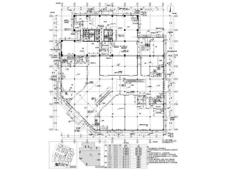 脱贫攻坚产业孵化园配套商业建筑施工图2019-一层平面图