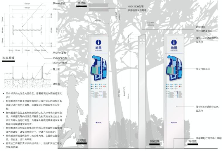 医院整体扩建门诊综合楼导向标识专项施工图-2