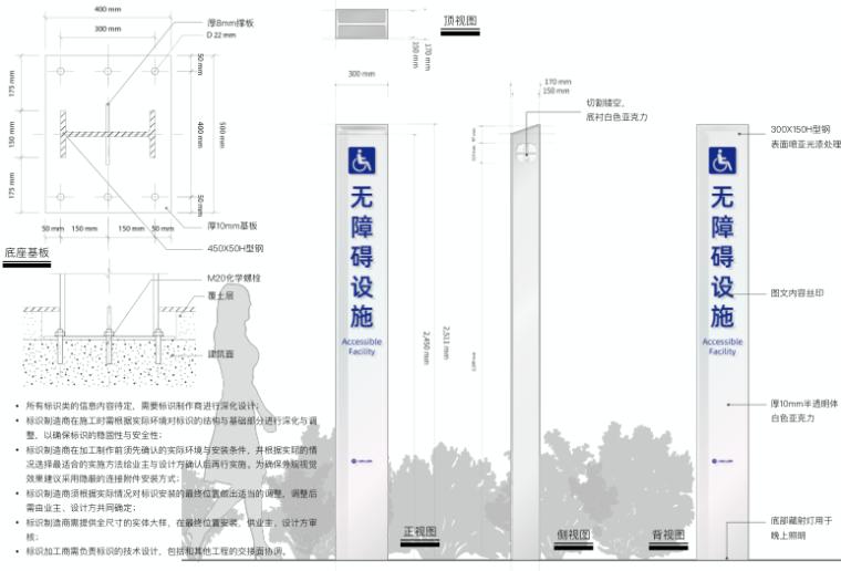 医院整体扩建门诊综合楼导向标识专项施工图-3