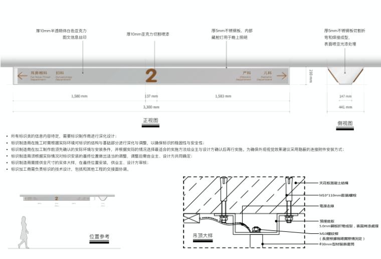 医院整体扩建门诊综合楼导向标识专项施工图-6
