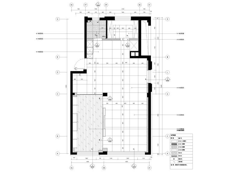 [宁波]182㎡现代三居室上叠别墅家装施工图-4F地面铺装图