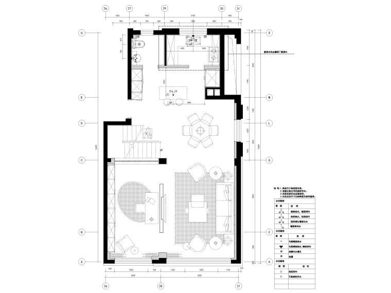 [宁波]182㎡现代三居室上叠别墅家装施工图-4F水位点位图