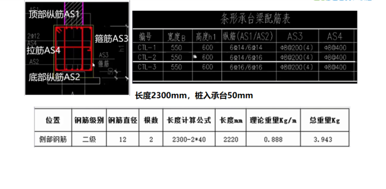 16G101图集承台梁的侧部钢筋计算案例PPT-02 承台梁的侧部钢筋计算案例