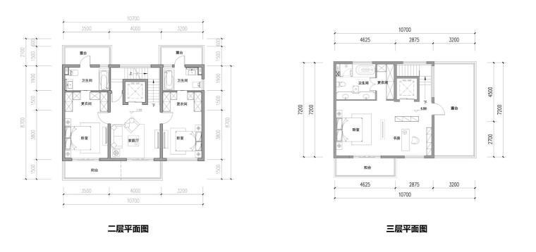 [山东]知名企业欧陆风叠拼+高层建筑方案-三层平面图
