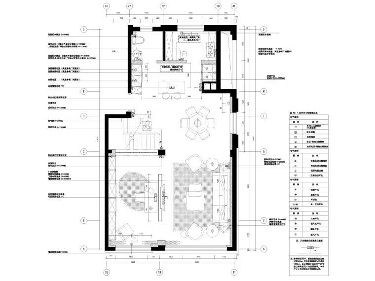 [宁波]182㎡现代三居室上叠别墅家装施工图-4F强、弱电出线图