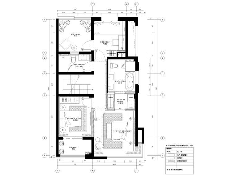 [宁波]182㎡现代三居室上叠别墅家装施工图-5F平面系统图