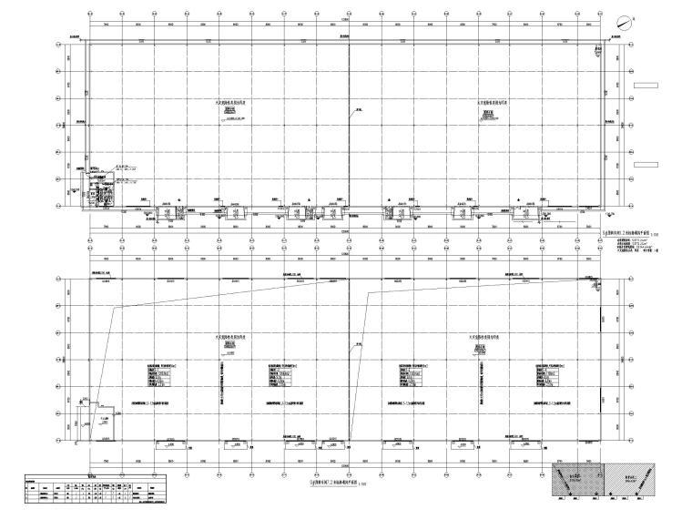 [贵州]饲料生产加工厂房暖通施工图2019-9#原料车间首层通风平面图