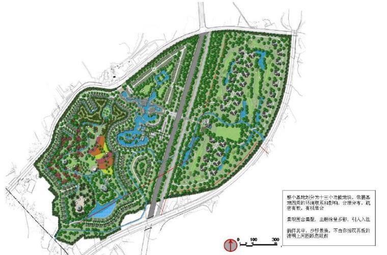 [四川]成都特色小镇居住区景观设计方案-总平面图