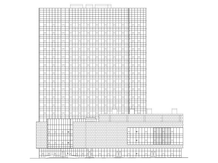 脱贫攻坚产业孵化园配套商业建筑施工图2019-立面图1