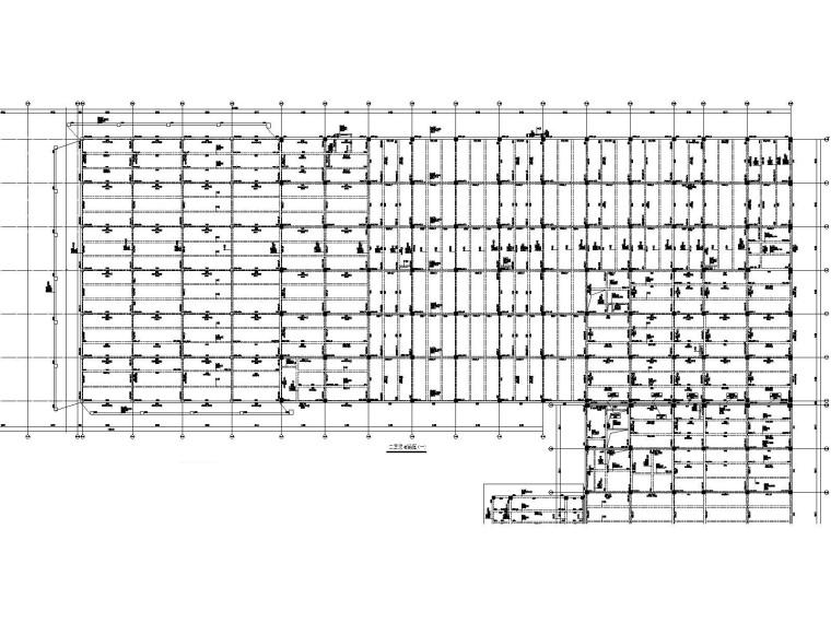 [遵义]框架+门式刚架结构厂房结施图纸2018-B区梁配筋图
