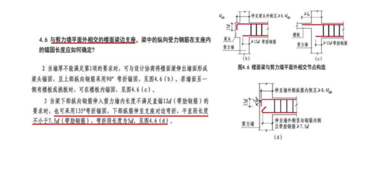 16G101图集其他支座梁的钢筋构造PPT-03 楼面梁与剪力墙平面外相交节点构造