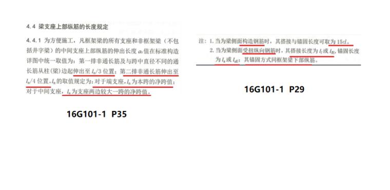 16G101图集梁的钢筋构造PPT-02 梁支座上部纵筋的长度规定