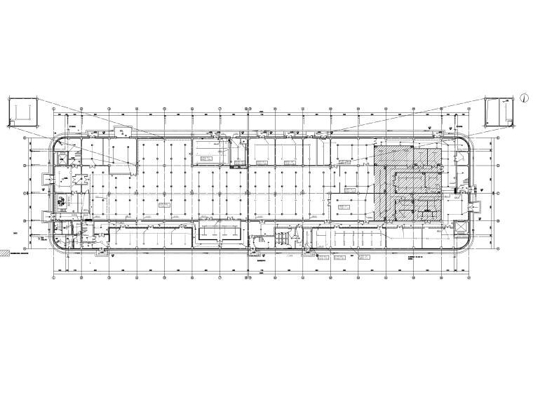 [贵州]三层茶叶工艺厂房电气施工图2018-1照明平面图
