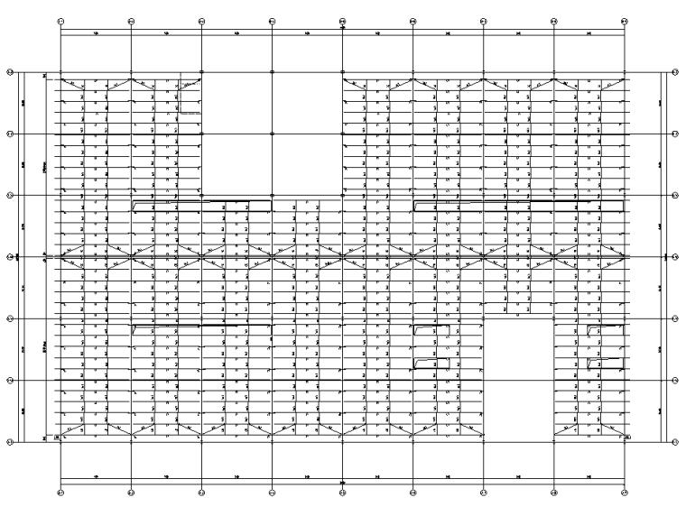 [遵义]框架+门式刚架结构厂房结施图纸2018-屋面檩条布置图
