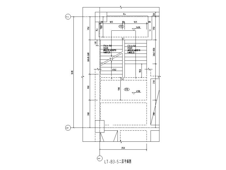 [遵义]框架+门式刚架结构厂房结施图纸2018-楼梯平面图