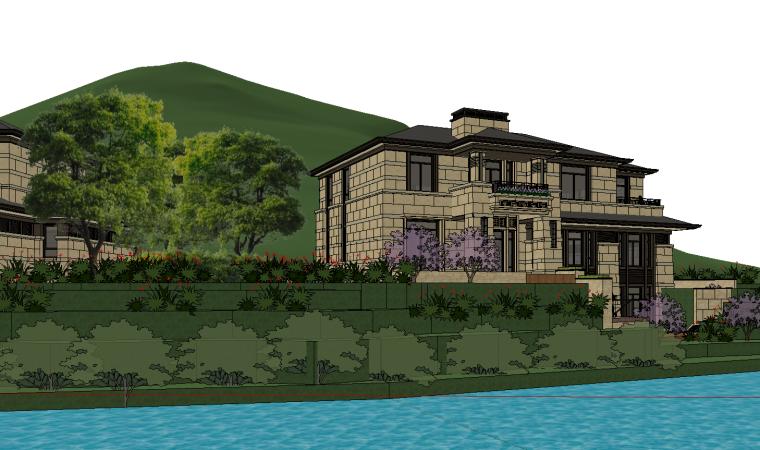 [浙江]绍兴低密度社区-小独栋别墅建筑模型-绍兴低密度社区- 小独栋别墅建筑模型 (2)