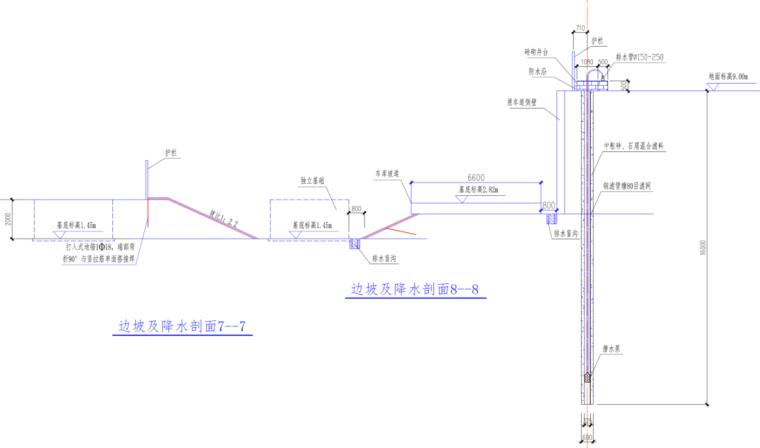 福州航站楼基坑支护及降排水施工方案(精品)-大放坡锚喷护面防护