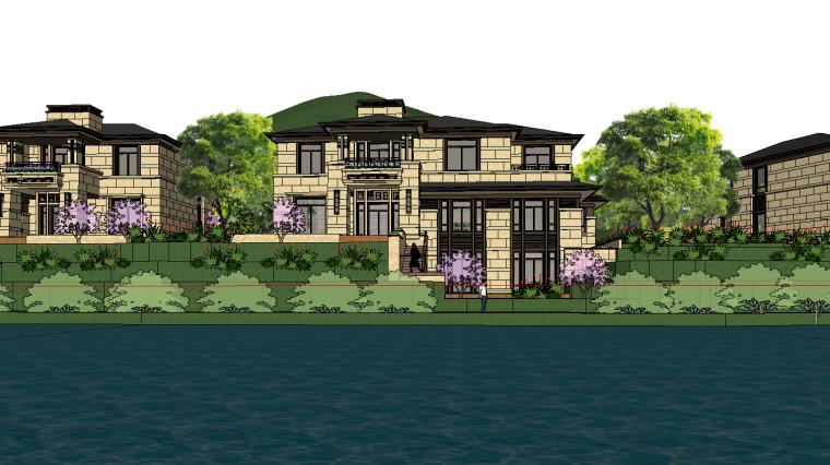 [浙江]绍兴低密度社区-小独栋别墅建筑模型-绍兴低密度社区- 小独栋别墅建筑模型 (4)