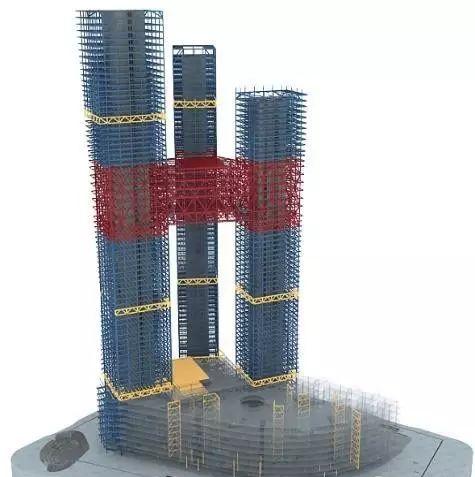 全球最高的三塔连体建筑_南京金鹰世界设计_9