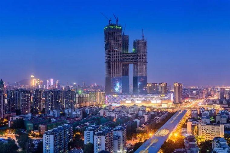 全球最高的三塔连体建筑_南京金鹰世界设计_7