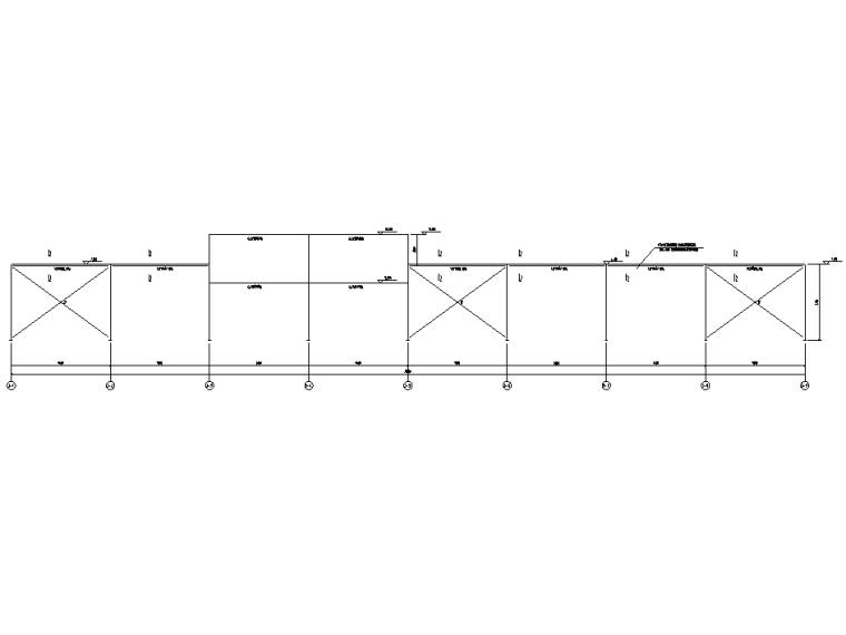 [遵义]框架+门式刚架结构厂房结施图纸2018-墙面布置图