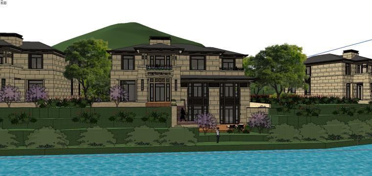 [浙江]绍兴低密度社区-小独栋别墅建筑模型-绍兴低密度社区- 小独栋别墅建筑模型 (5)