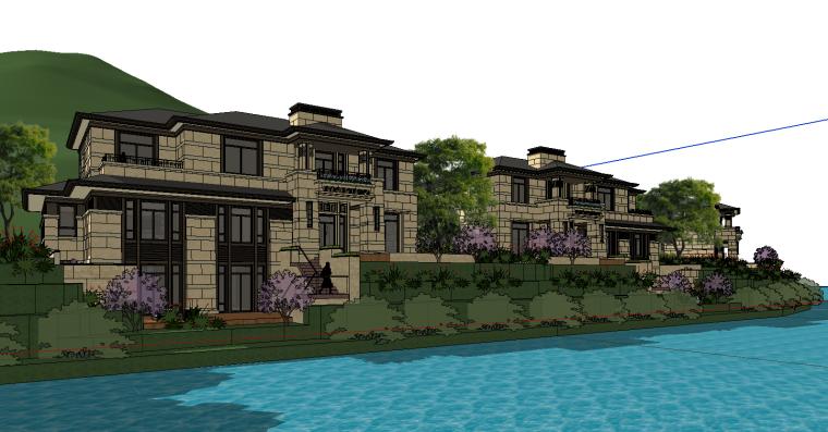 [浙江]绍兴低密度社区-小独栋别墅建筑模型-绍兴低密度社区- 小独栋别墅建筑模型 (6)
