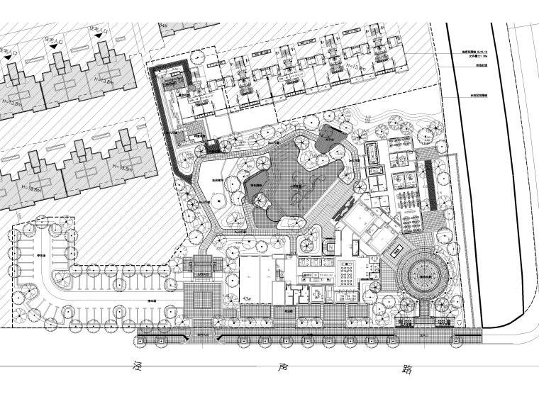 [江苏]无锡锡北金茂示范区景观工程施工图-总平图