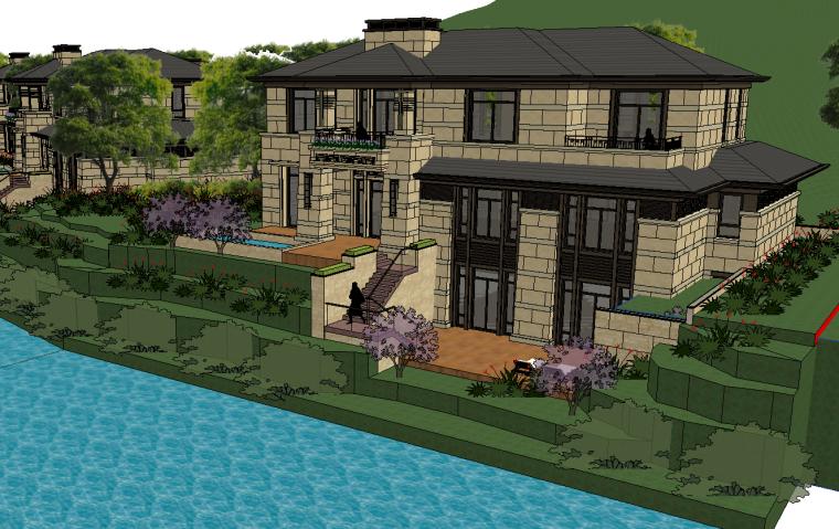 [浙江]绍兴低密度社区-小独栋别墅建筑模型-绍兴低密度社区- 小独栋别墅建筑模型 (7)