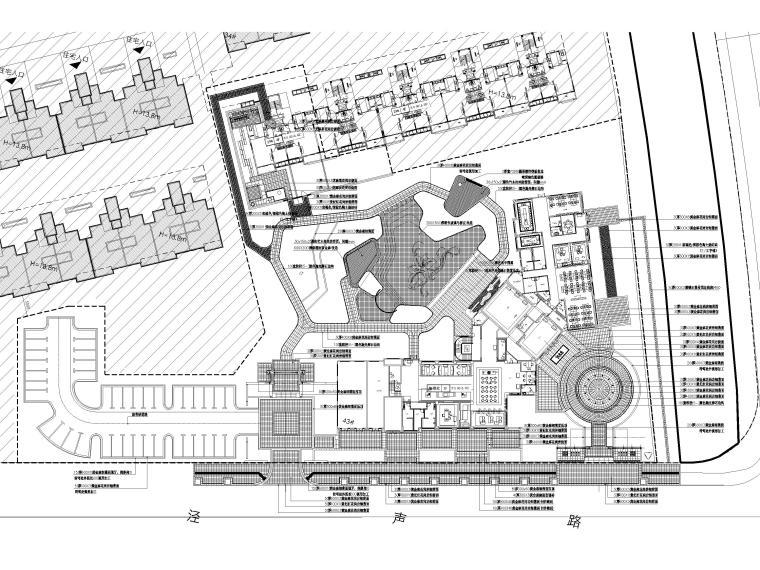 [江苏]无锡锡北金茂示范区景观工程施工图-铺装平面图