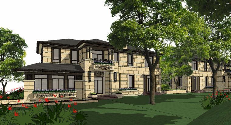 [浙江]绍兴低密度社区-小独栋别墅建筑模型-绍兴低密度社区- 小独栋别墅建筑模型 (8)