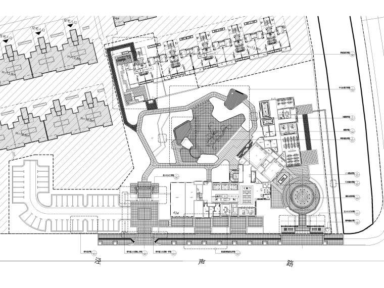 [江苏]无锡锡北金茂示范区景观工程施工图-索引平面图