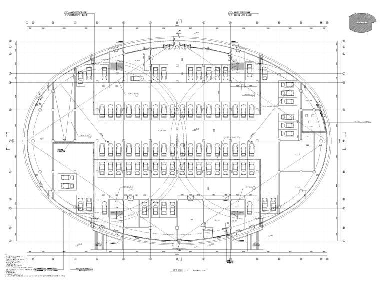 2层框架结构中学体艺楼建筑施工图-一层平面图