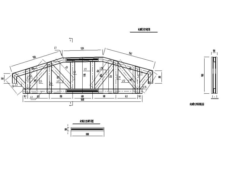 [广西]桥梁工程挂篮悬浇专项施工方案-内顶梁支架布置图