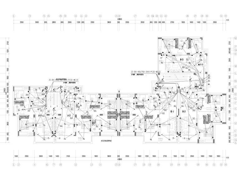 [贵州]农村安置房电气施工图(含招标文件)-2配电平面图
