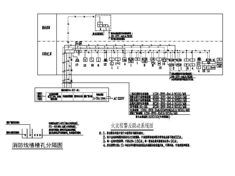 [贵州]农村安置房电气施工图(含招标文件)-5火灾报警及联动系统图