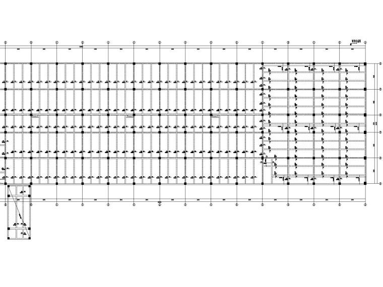 [遵义]框架+门式刚架结构厂房结施图纸2018-B区板配筋图