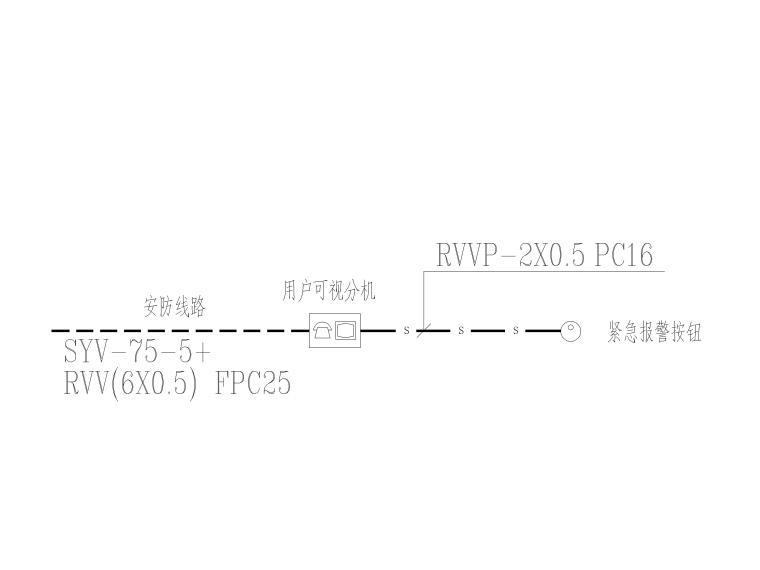 [贵州]农村安置房电气施工图(含招标文件)-8可视对讲系统图