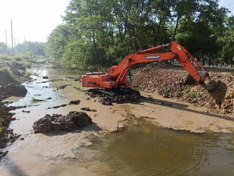 河道清淤方案施工组织设计资料下载-河道清淤疏浚与护岸施工组织设计