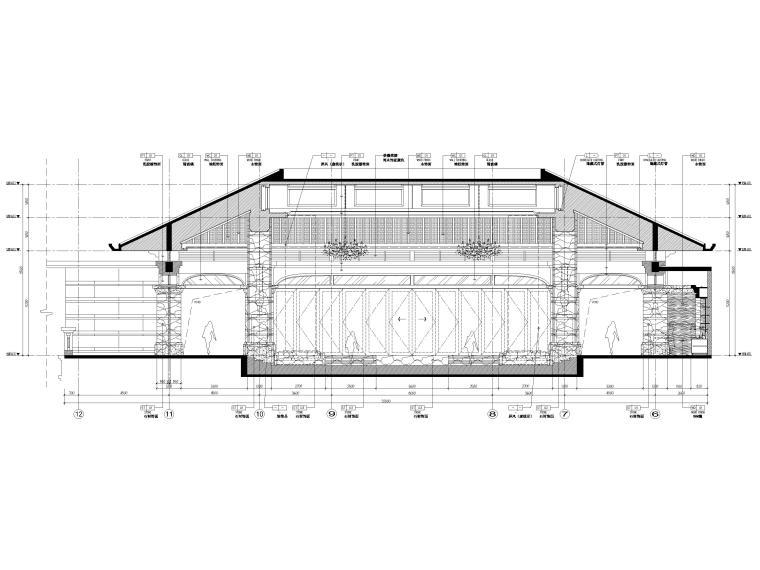 [三亚]海棠湾五星康莱徳酒店室内装修施工图-一层主楼立面图2
