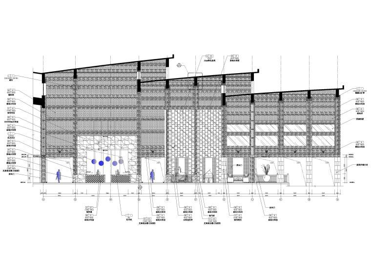 [三亚]海居Pullman度假酒店室内装修施工图-一层大堂立面图2