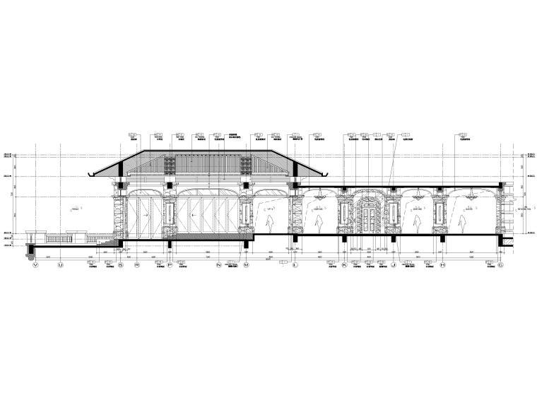 [三亚]海棠湾五星康莱徳酒店室内装修施工图-一层主楼立面图