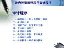 政府投资建设项目审计的程序和方法