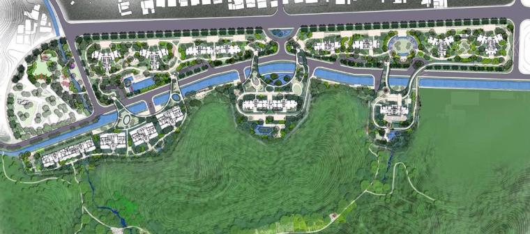 [广东]珠海山景居住区景观设计方案-总平面图
