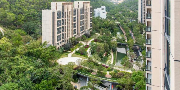 [广东]珠海山景居住区景观设计方案-园区顶视景观效果图