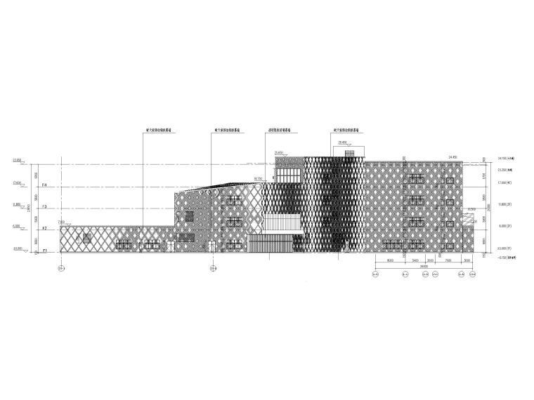 [贵州]四层框架结构博物馆建筑施工图2018-立面图2