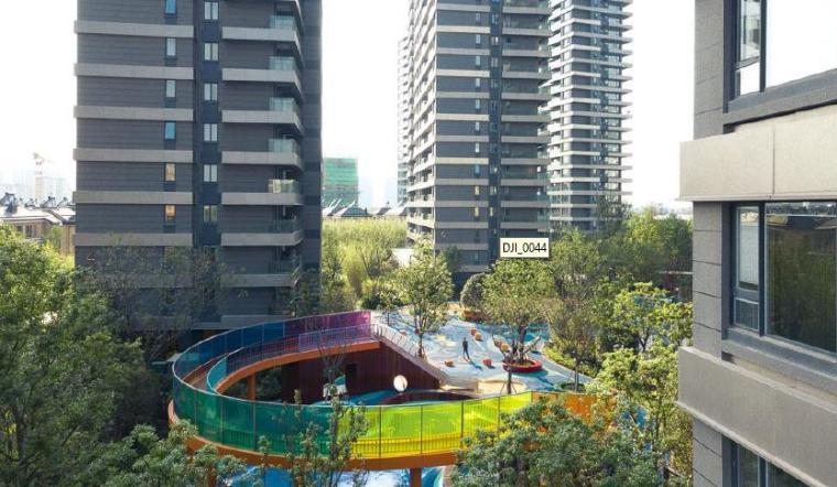 [江苏]现代风格居住区景观设计方案-居住区效果图