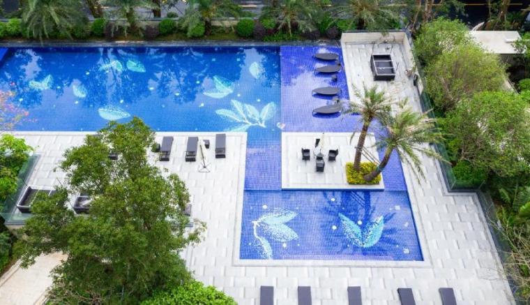 [广东]珠海山景居住区景观设计方案-泳池区实景图